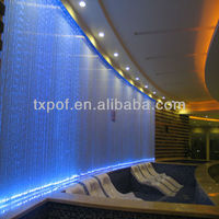 Colorful decorative plastic fiber optic modern lighting curtain lighting led christmas curtain waterfall lights