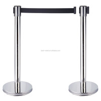 Top grade hot sale double strap retractable guiding line barrier stanchion
