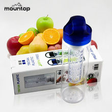 2015 New Design Foldable plastic easy to take Orange Lemon Infuser Water Bottles