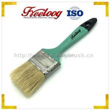 "2"" natural hardwood handle beavertail style paint brush"
