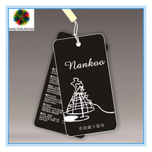 die cut string swing hang tag for bag