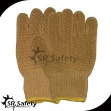 SRSAFETY cotton glove with pvc dot
