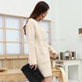 De alta calidad de corea las mujeres de moda jersey de abrigo, las señoras de largo cardigan sweater abrigos