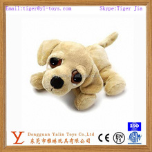 Cute plush floppy labrador dog with big eyes toy