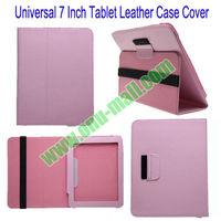 for 7 inch tablet folio leather case cover for iPad Mini,Google Nexus 7,Asus Fonepad,Lenovo A3000 etc