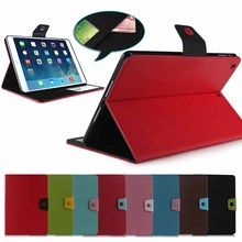 For iPad Air case, lowest price flip leather case for iPad 5/Air cover