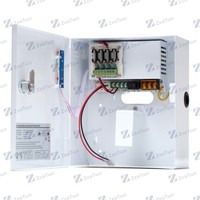 12VDC 5A power supply for cctv camera, 4 cameras connection, industrial switching power supply
