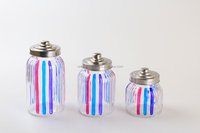 RH004 ABC Hand painting glass canister