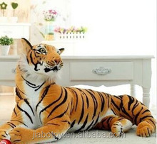 Life size Giant ,realistic tiger plush toy wild animal different style plush tiger posed in a realistic stance.