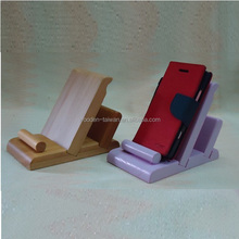 Wooden cell phone mobile phone holder