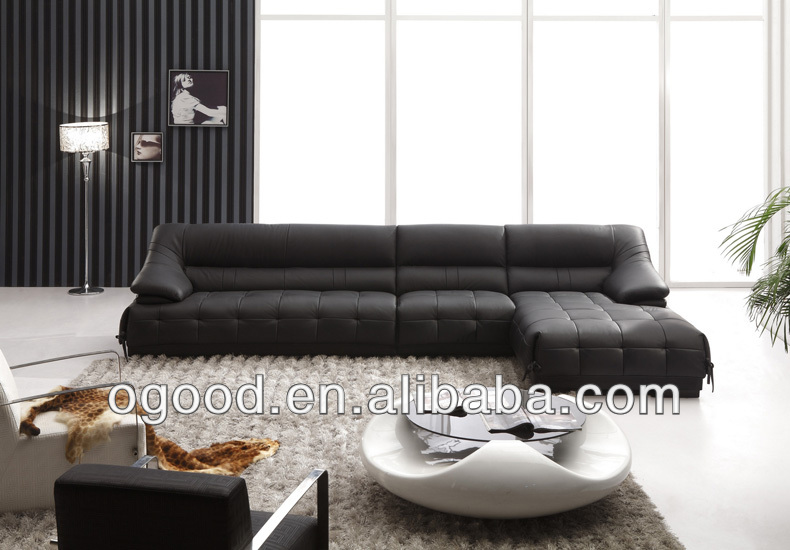 italian style leather black modern sectional sofa buy