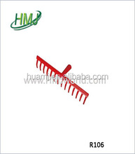 High carbon steel/metal Strengthen adjustable leaf rake agriculture farming rake