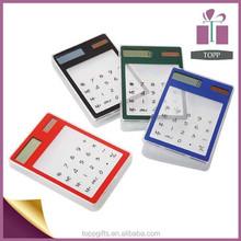 Promotion dual powered square transparent solar calculator