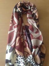 Fashionable Mercerized Wool Scarf Wrap, Chinese Brush Drawing 180*70cm Pashm Shawls