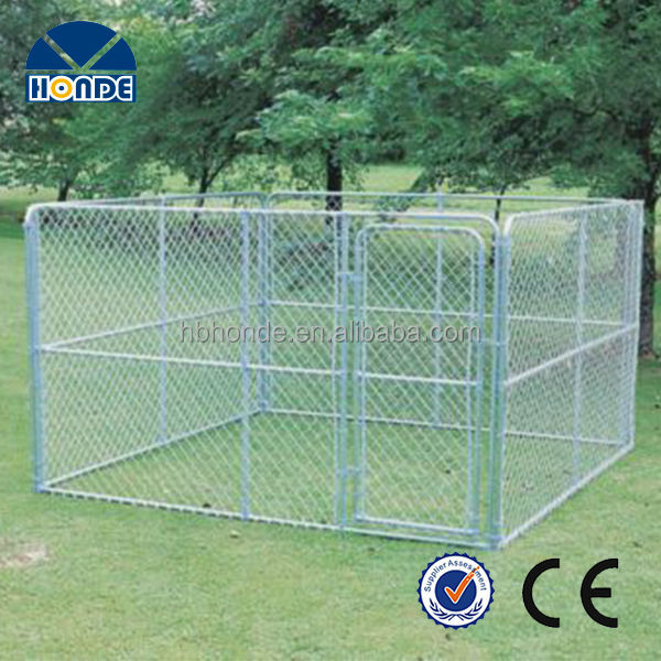 New design high quality unique iron fence cheap chain link dog kennel