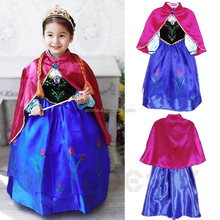 New girls gambar sex frozen elsa dress fabric costume wholesale for party BC 8067