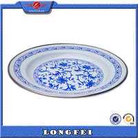 best selling products 16-26cm cheap china enamel lunch plate