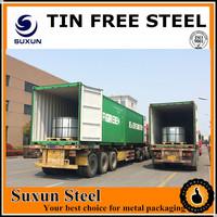 Golden Tin Free Steel Sheet/ Tin Sheet Metal Price for Metal Tin Packing
