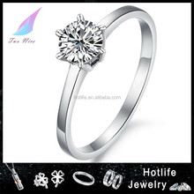 ebay europe all product good quality Fashion crystal engagement ring factory prices