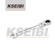 CRV Adjustable Ratchet Socket Wrench,Spanner with Bent Handle-KSEIBI