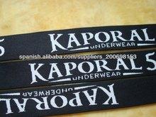 nylon jacquard cinta elástica para la ropa interior