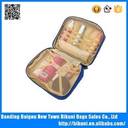 High quality waterproof tote cosmetic bag nylon wash bag for travelling