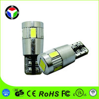 HOT sale T10 5730smd CAN-Bus chip auto light with 6 led