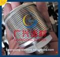 areia de quartzo filtro retentor de resina de tela