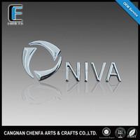 Custom high quality 3d ABS plastic auto grill logo badge chrome car emblem