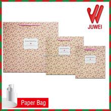 gift bags custom logo hot sale wholesales Pink flower free samples gift paper bags