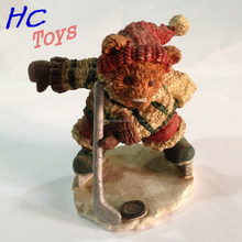 Cartoon Hockey Player Bear Sculpture, Cartoon Figure Craft, Cartoon Figure Toy