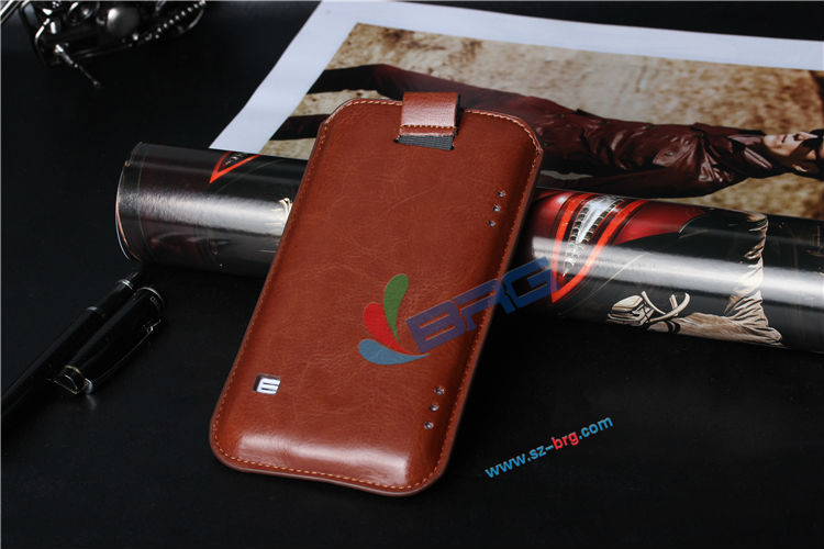 BRG- 2014 high quality pu leather case for samsung s5 leather pouch case for samsung galaxy s5