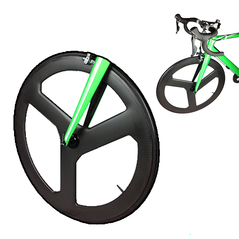 2015 New lightweight carbon three wheel bicycle,road carbon wheel