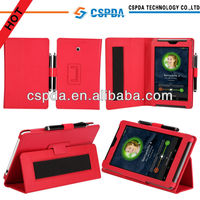 Leather HandStrap Folio Stand Case Cover for ASUS Fonepad 7 (ME372CG) - 7-inch Android Tablet