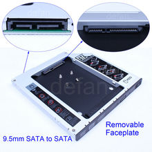"2.5"" 2nd Optical Bay Hard Drive Enclosure sata HDD Caddy for 9.5mm universal CD/DVD-ROM"