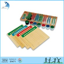 Preschool Wooden Educational Montessori Material EN71 Mathematic Toy Number and Counter Control Charts