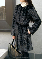 2015 popular fashion wholesales black long mink fur winter coat for lady from china