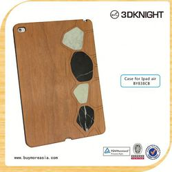 hot new products 2015 high quality wood back case for ipad air 2