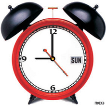 2015 Home Decor MAX3 Red Table Wall Clock Living Room Clock Trendy Christmas Gifts Table Clock