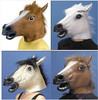 new party mask, latex zombie horse mask, halloween mask