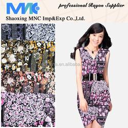Spun Rayon Discharge Printing with Metallic/soft fabric