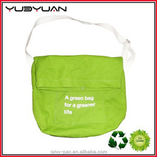2015 China Hot Sale Green Small Canvas Messenger Bags Women and Man Travel Shoulder Bag
