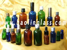 wholesale 20pcs 5ml glass+stainless steel roll on cream lotion bottle glass bottle cosmetic container packaging