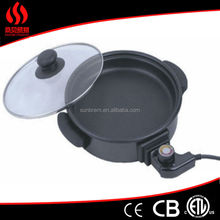 round pizza pan with high capactiy/nonstick pizza pan