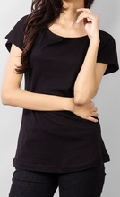 Black Plain Women T-Shirt