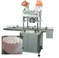 2 head automatic plastic container heat sealer plastic film sealer