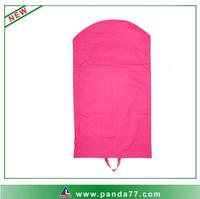 Wholesale cheap foldable pink garment bags