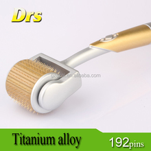 ZGTS derma roller with 192 titanium needles for facial care