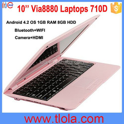 Ultra-thin Wholesale Mini Netbook Computer 10'' Via8880 Dual Core Cheap Laptops In China