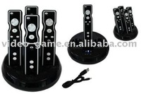 Quad Charging Station Charger Dock For Wii Remote--Black